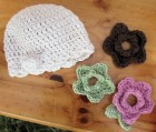 convertible flower hat handmade crochet infant child
