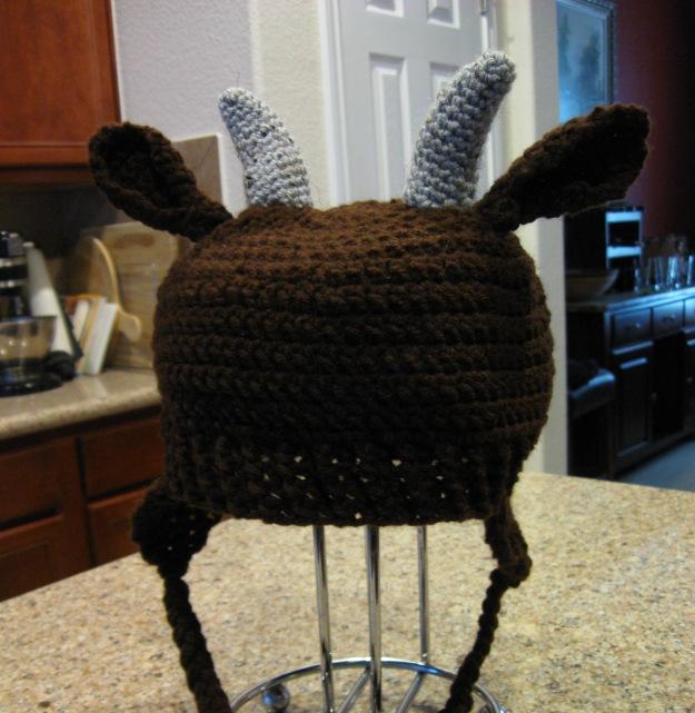 Goat hat handmade crochet