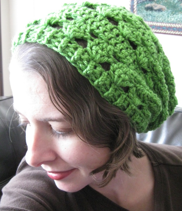 handmade crocheted women's slouchy hat