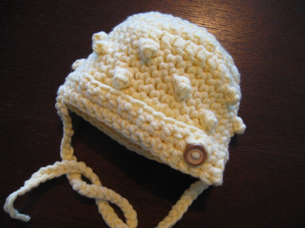baby infant crocheted handmade hat