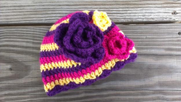 Flower crochet children's hat handmade