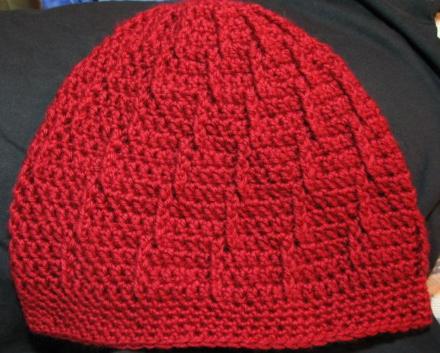 slouchy handmade crocheted hat