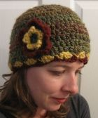 hat crochet handmade flower women