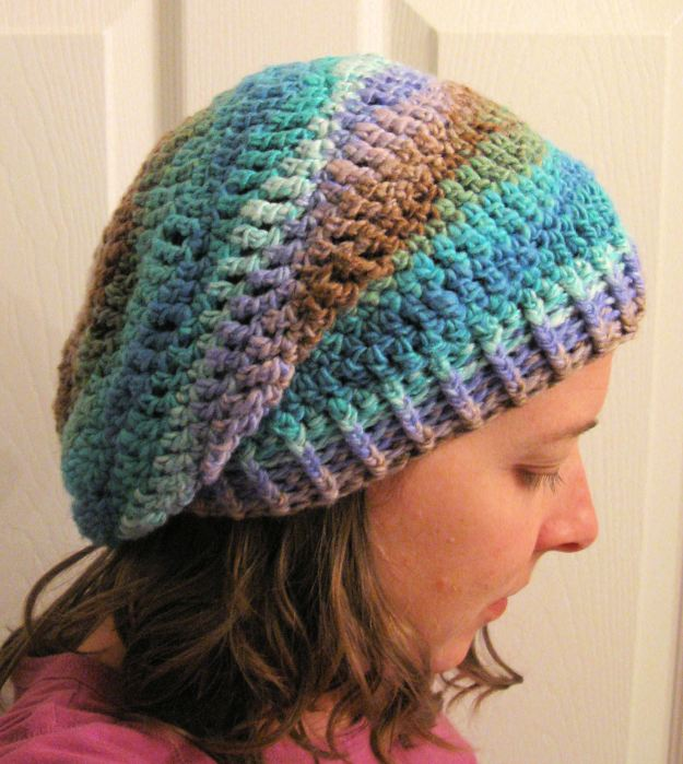Handmade slouchy crocheted hat