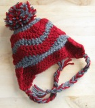 handmade infant earflap hat crochet